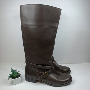 Ralph Lauren Sahara Brown Leather Riding Boots